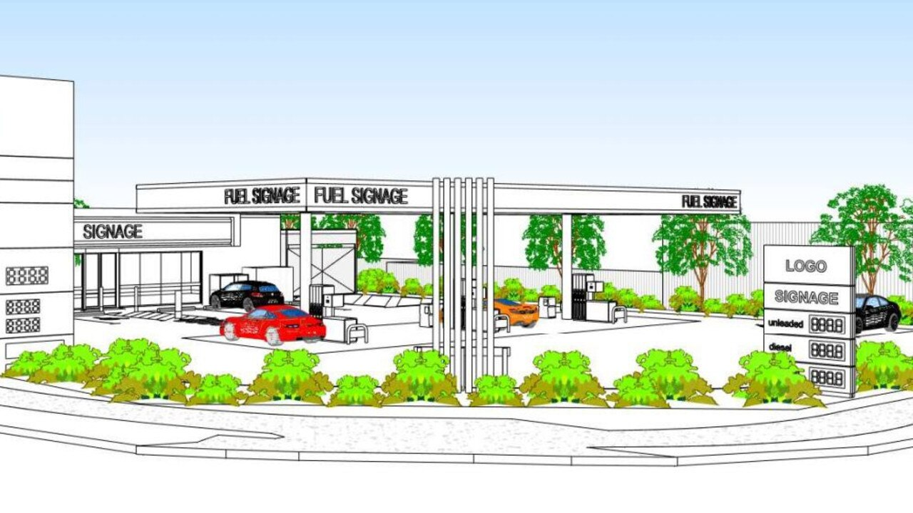 According to Cr Terry Landsberg, Moffat Beach residents have already objected against a redevelopment of a service station as they're concerned about the 24-hour use, the use of fuel trucks refuelling early in the morning, light reflection and the impact to other local businesses. Photo: Verve Building Design