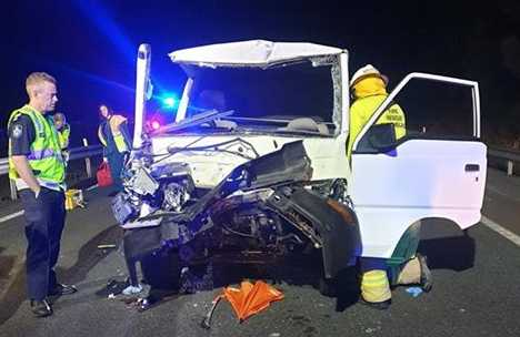 Man cut free after a single vehicle crash on the Bruce Highway