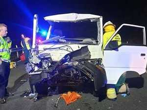Highway cut, man hospitalised in serious crash