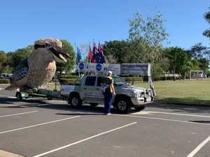 Giant Kookaburra visits St Luke's in Bundaberg