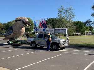 Giant Kookaburra visits St Luke's in Bundaberg
