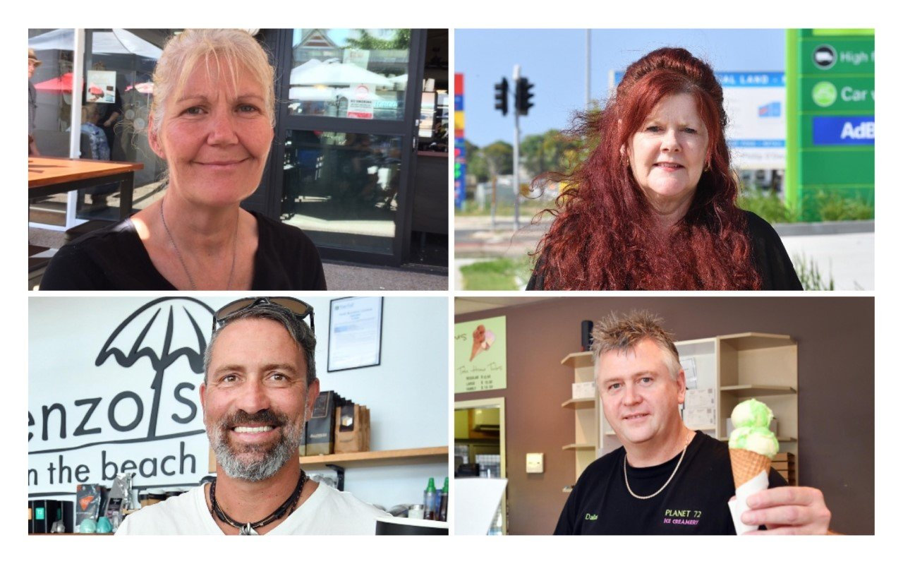 Fraser Coast business leaders. Top left, Stacy Gleich, bottom left Enzo Andreuzzi, top right, Sandra Holebrook, bottom right, Dallas Harch.
