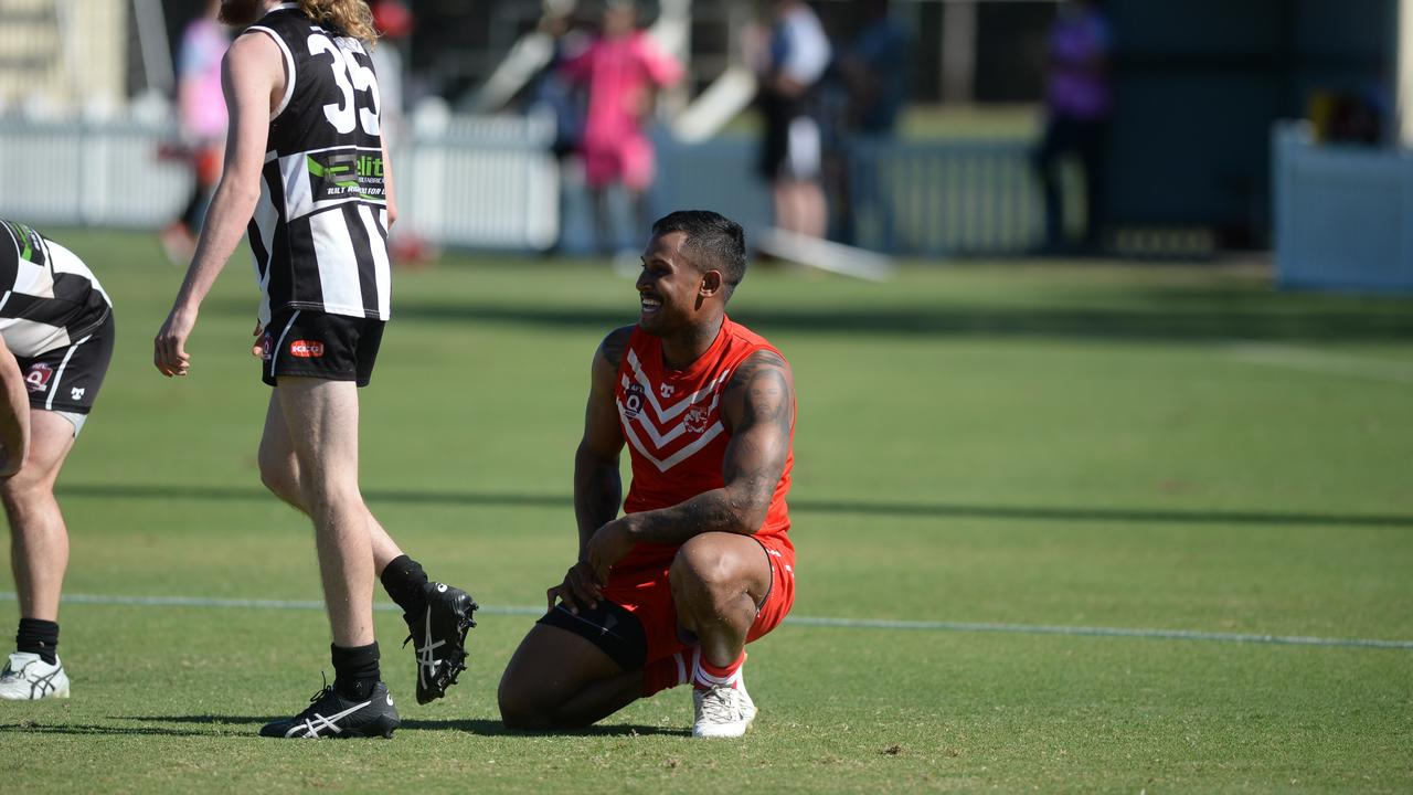 Ben Barba made his senior Aussie rules debut for Eastern Swans last weekend. He kicked seven goals in Reserve Grade and backed it up with six more majors in A-Grade. Photo: Callum Dick
