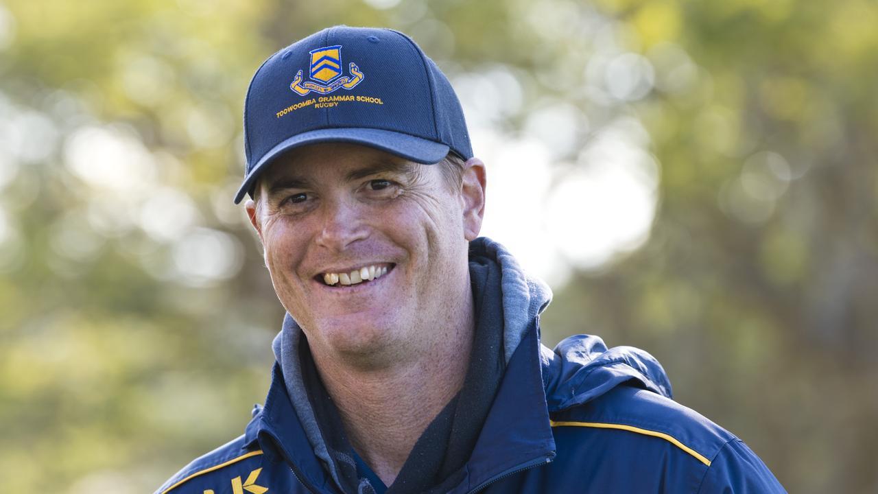 Toowoomba Grammar School head rugby coach David Enfantie.