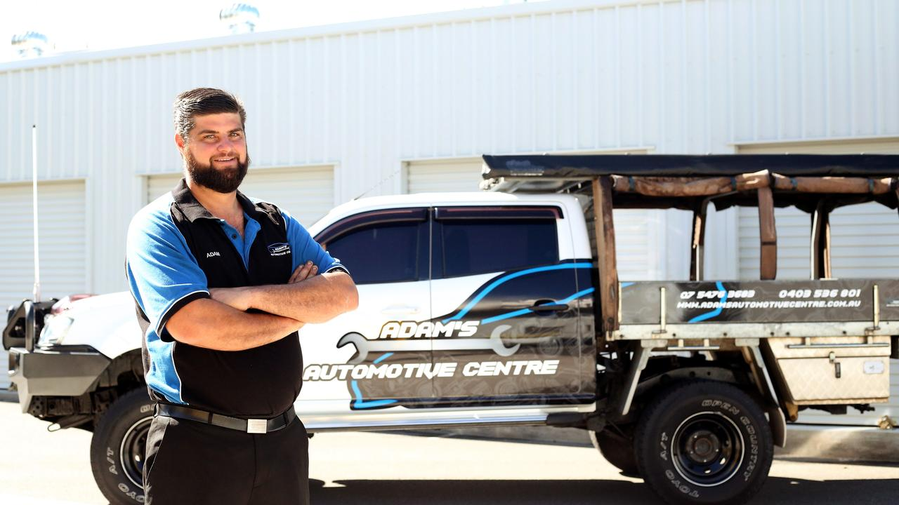 Adam Van Doore and his wife Natasha Van Doore recently opened Adam's Automotive Centre along Florence street in Nambour after they were both made redundant. Picture: Contributed