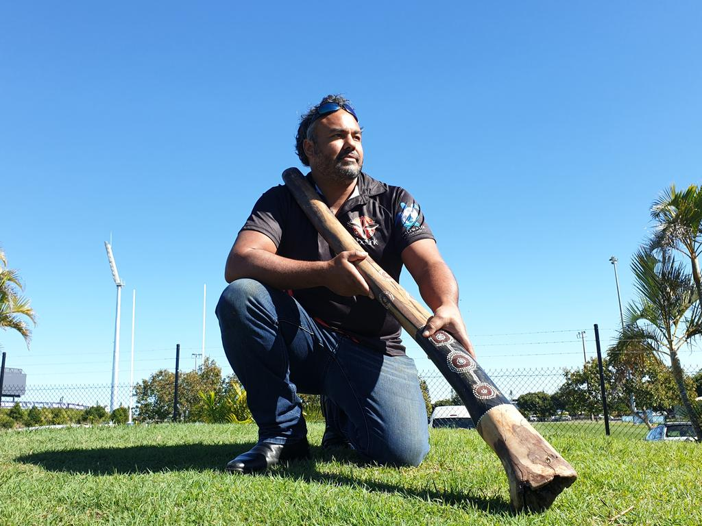 Proud Kabi Kabi man Kerry Neill will perform the welcome to country on Sunday in lead up to the Indigenous round game between the Melbourne Storm and Newcastle Knights.