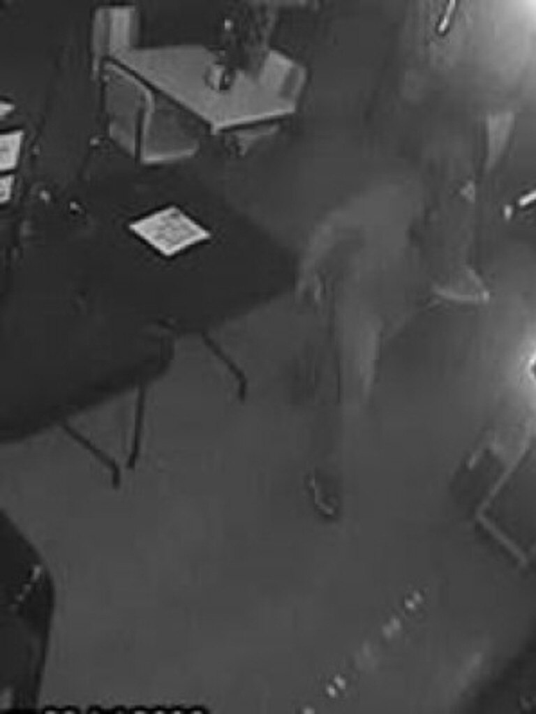 Three people smashed their way into a Mount Ossa cafe about 3.20am on July 28. The trio stole numerous items including cash and articles of mail.