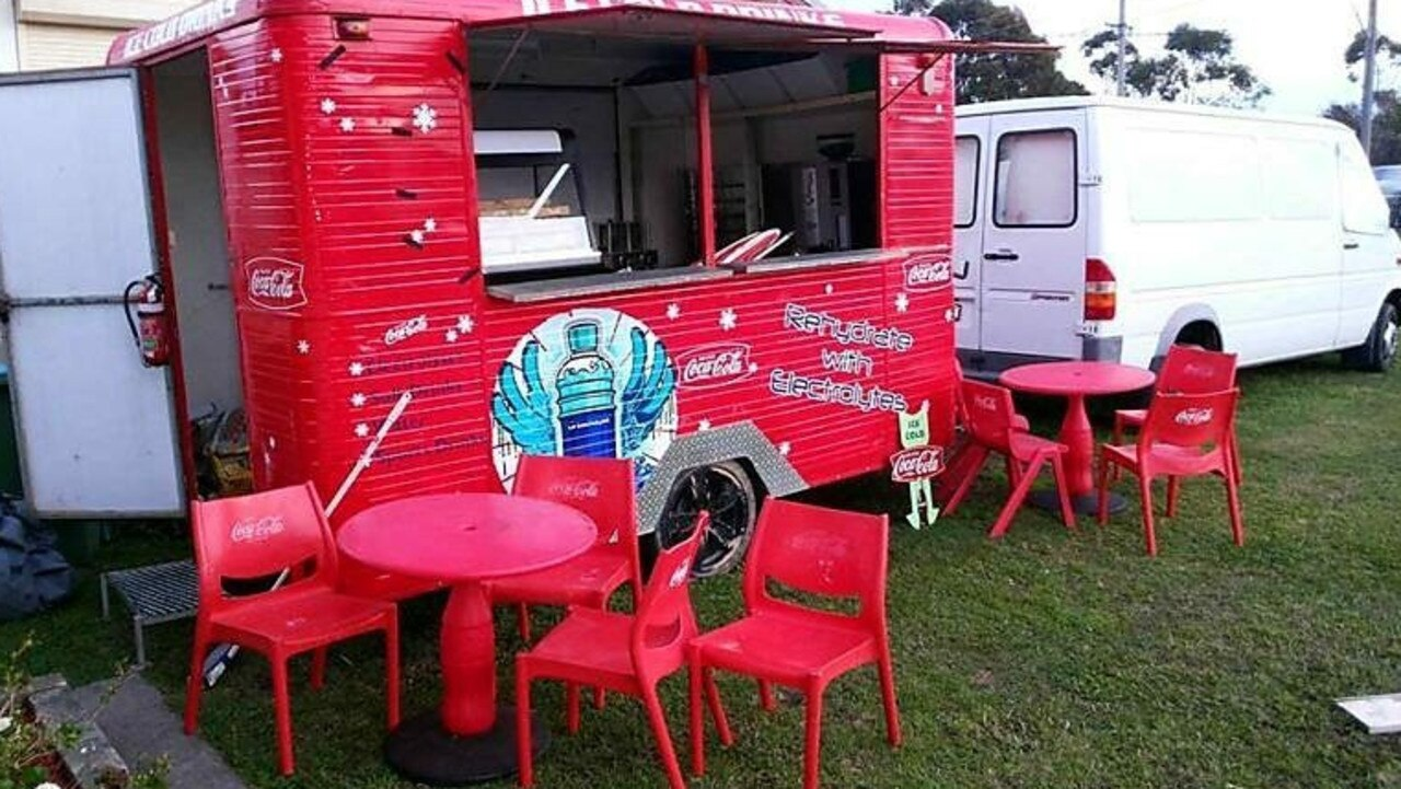 RED HOT: The 1997 Coco-Cola van, before becoming The Doughnut Hole. Pic: Supplied