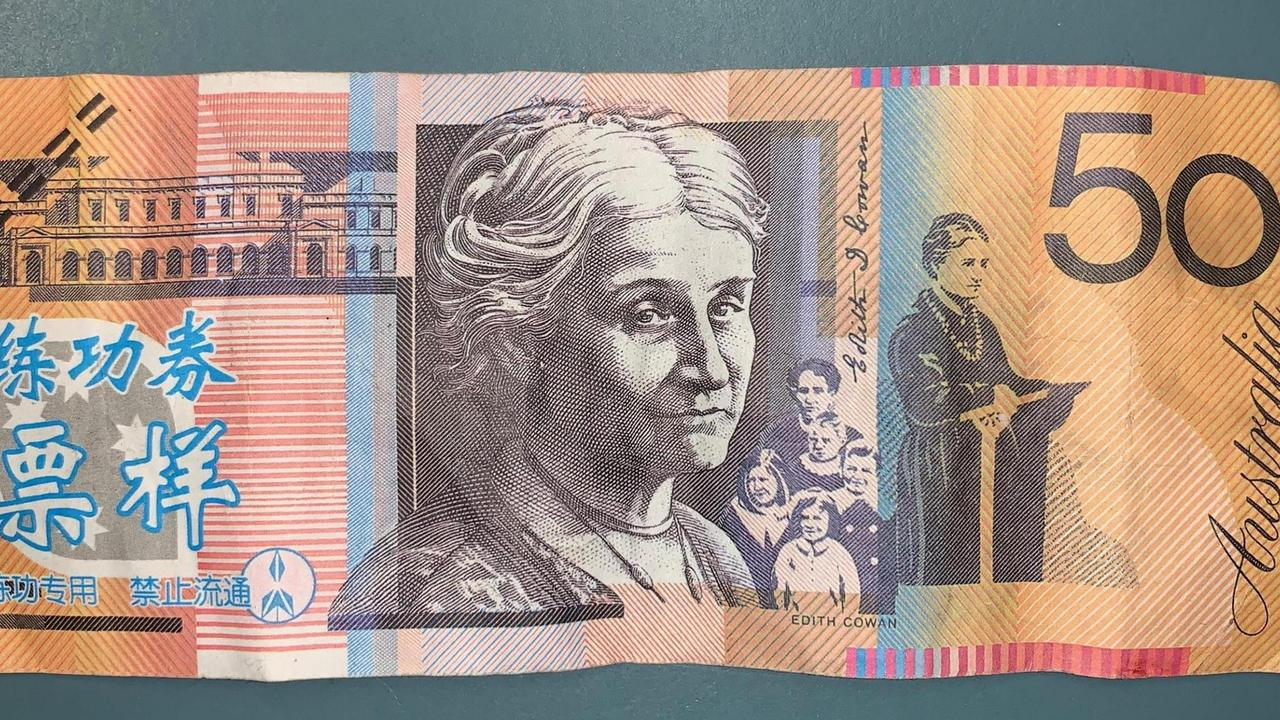 A fake $50 note which was passed at a Queensland business. Source: QPS.
