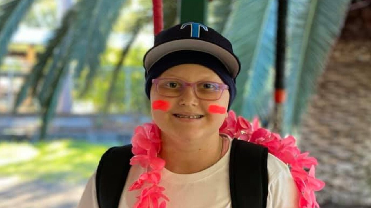 WARRIOR: 11-Year-old Addie Clay celebrates being cancer free. Pic: Supplied