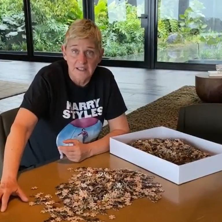Ellen DeGeneres has been hosting her show from home.