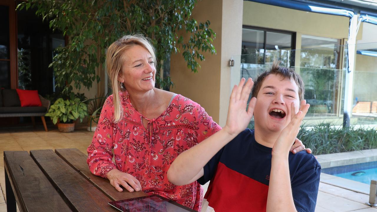 Dr Carolyn Harris with her son Liam 17. Dr Harris is a rare GP in SA who is willing to prescribe medicinal marijuana to patients who need it. Picture MATT TURNER.