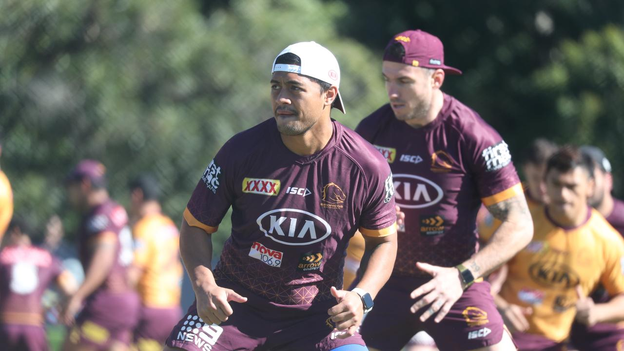 Anthony Milford at Broncos training . Pic Annette Dew