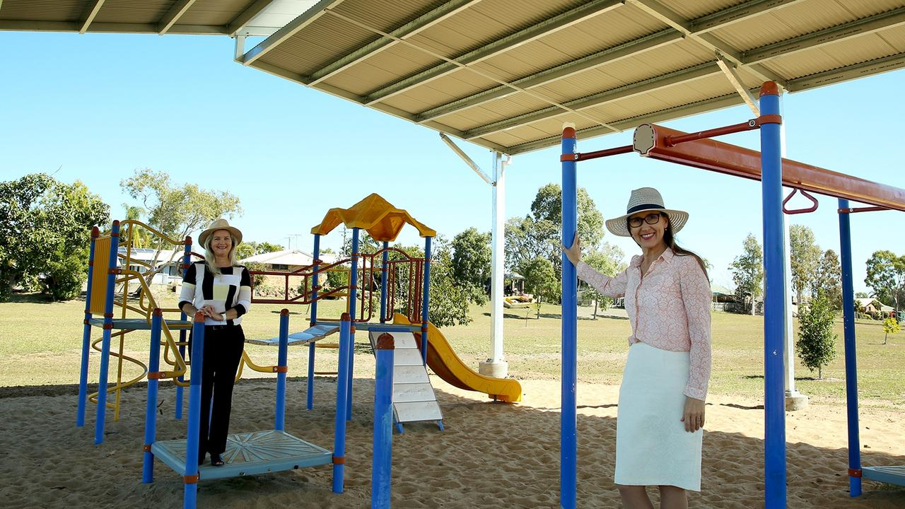 Councillor Cherie Rutherford and Donna Kirkland at Dorothy Ball Park.