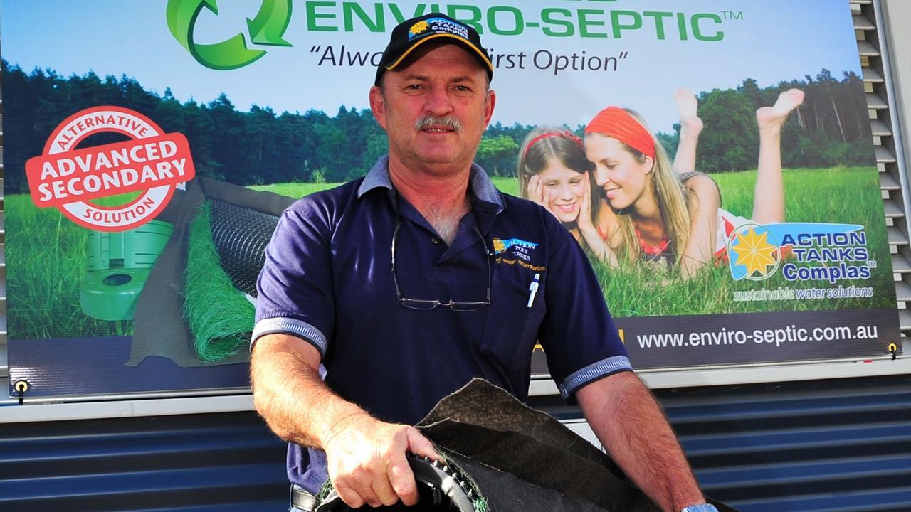 Advanced Enviro Septic owner Randall Crisp. Photo Geoff Potter / Noosa News