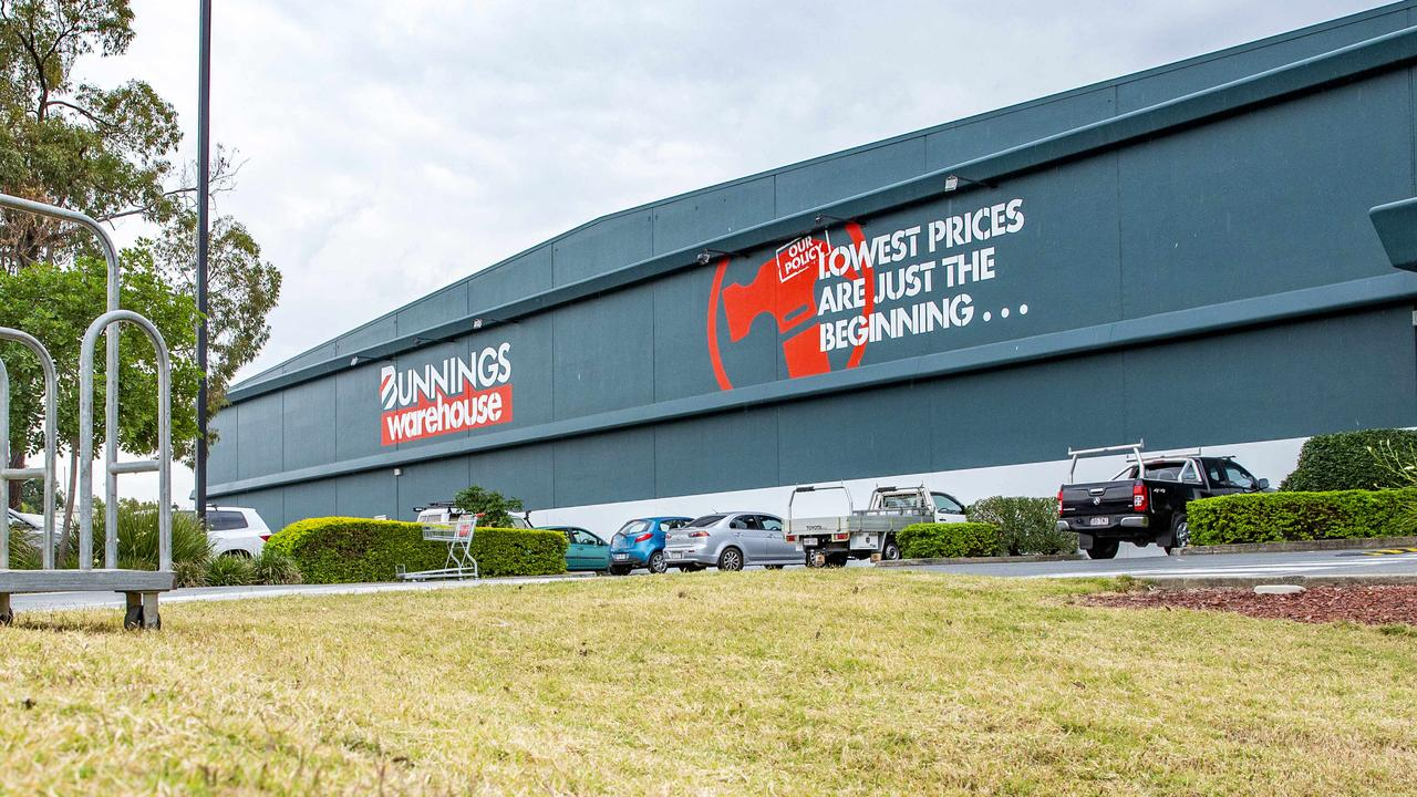 Bunnings at Oxley was one of the locations visited by the Bellbird Park man. File picture