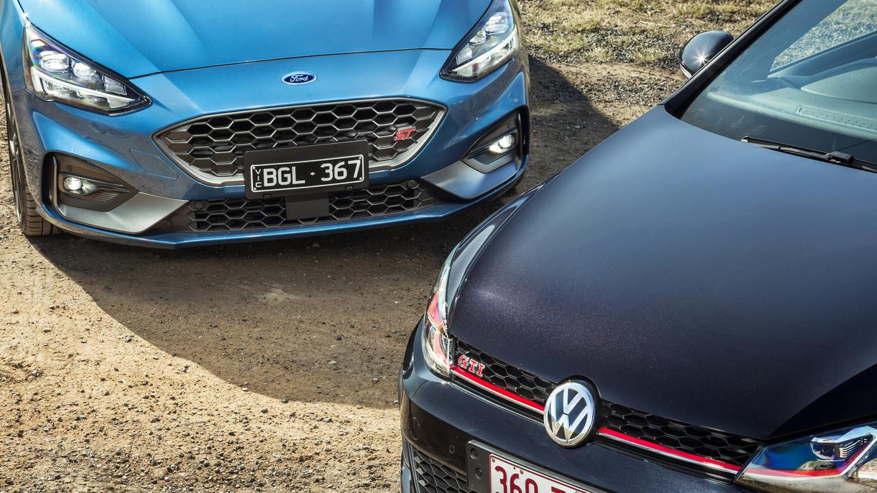 Ford has added an automatic transmission to its ST hot hatch to take on the evergreen VW Golf GTI. Pictures by Thomas Wielecki.