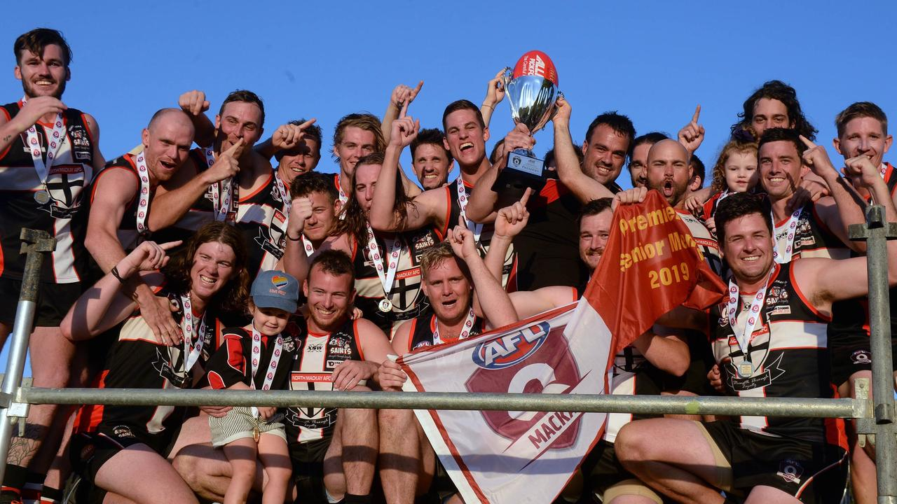 North Mackay Saints 10.15-75 defeated Eastern Swans 7.4-46 to win the 2019 AFL Mackay Allied Pickfords Cup A-Grade grand final at Harrup Park. Saturday, September 7 2019.