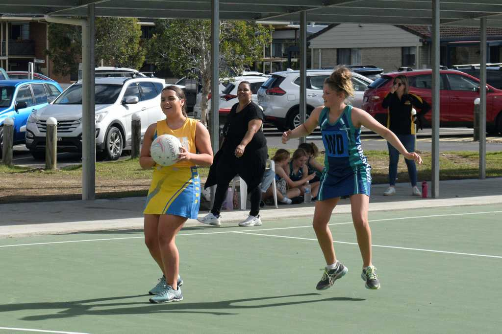 Image for sale: Action between Maclean Gold and Dream Breakers during their Lower Clarence Netball Association Division 1 and 2 clash on Saturday, August 1, 2020.