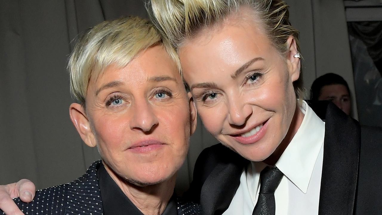 Ellen DeGeneres and Portia de Rossi. Picture: Charley Gallay/Getty Images for Netflix