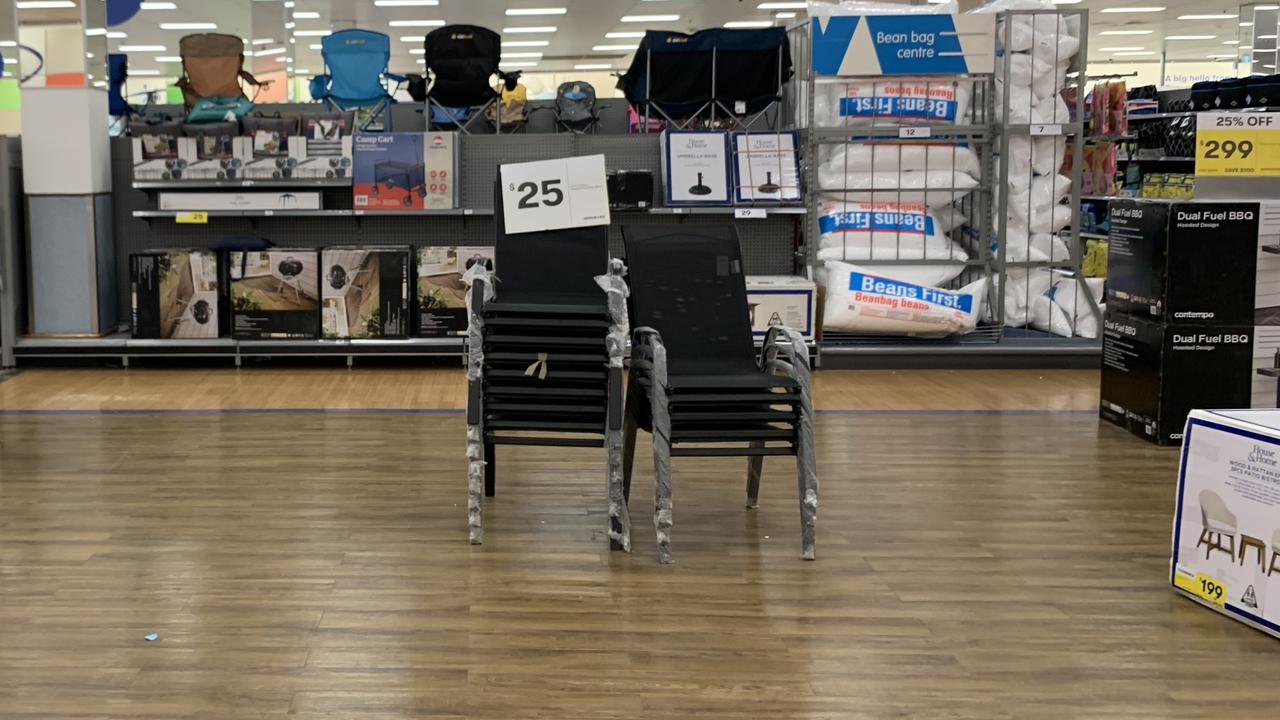 Not much outdoor furniture at Big W. Picture: Benedict Brook