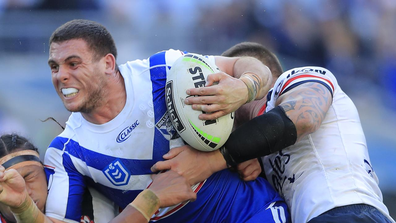 Adam Elliott is one of the kings of the gym at the Bulldogs. Picture: Mark Evans/Getty Images
