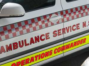 Emergency services respond to car, bike crash