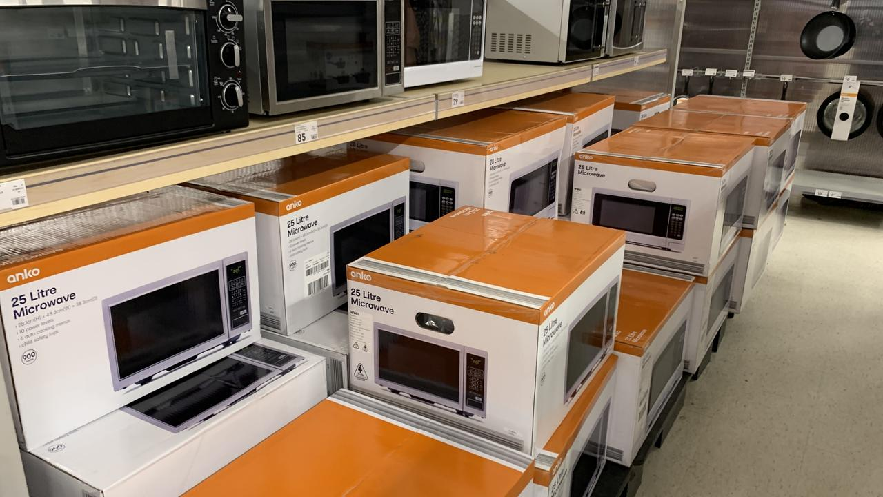 Microwaves are back in vogue at Kmart. Picture: Benedict Brook