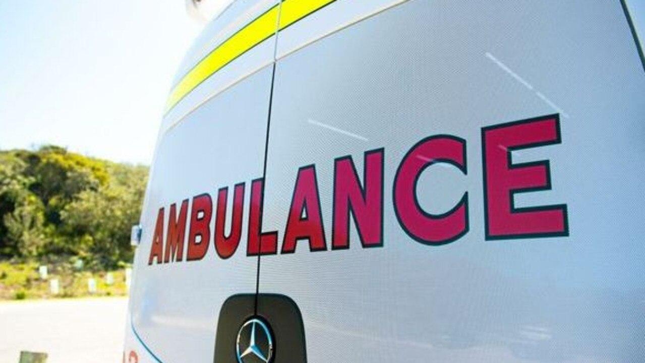 Paramedics took a woman to hospital last night.