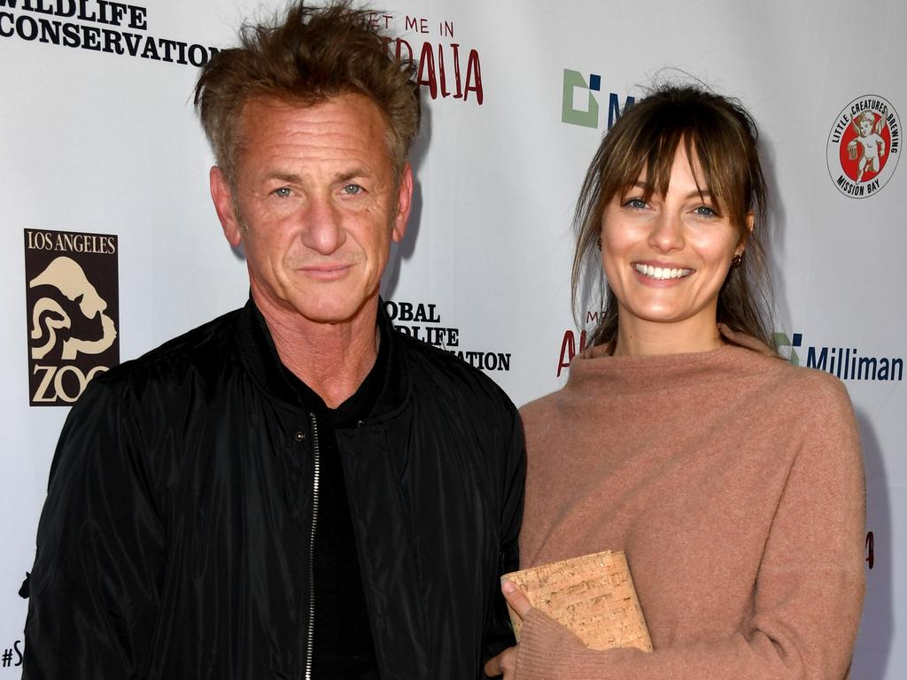 Sean Penn and Leila George. Picture: Kevin Winter/Getty Images