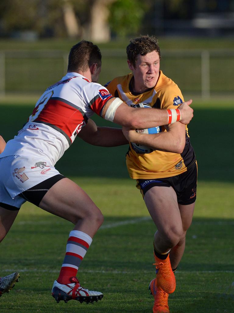 Kurt Mann in action for the Falcons in 2015. Photo: John McCutcheon / Sunshine Coast Daily