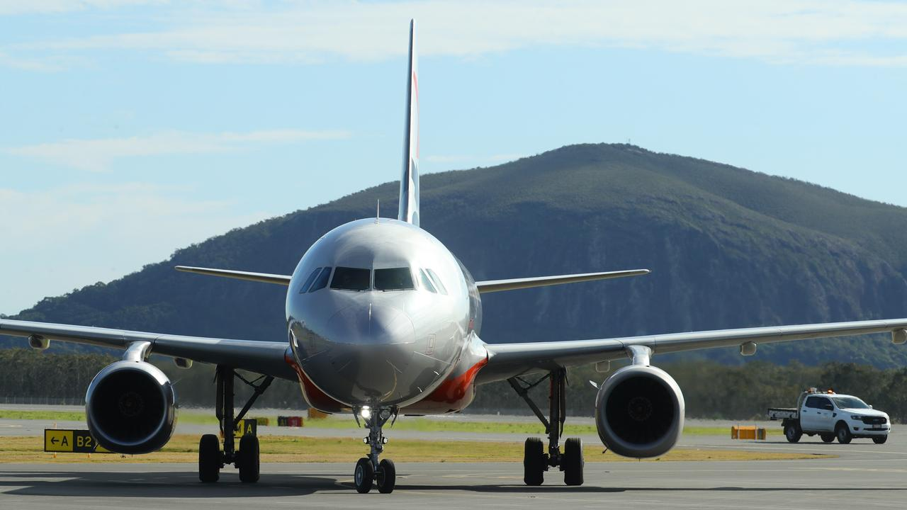 A man has tested positive to coronavirus after arriving into Sunshine Coast Airport on a flight from Sydney.