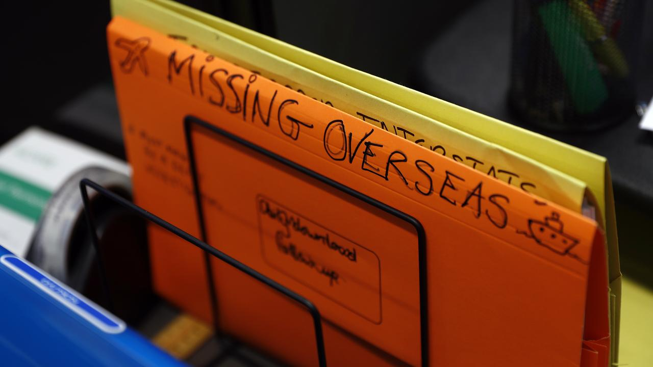 More files of the cases of missing people. Picture: Sam Ruttyn