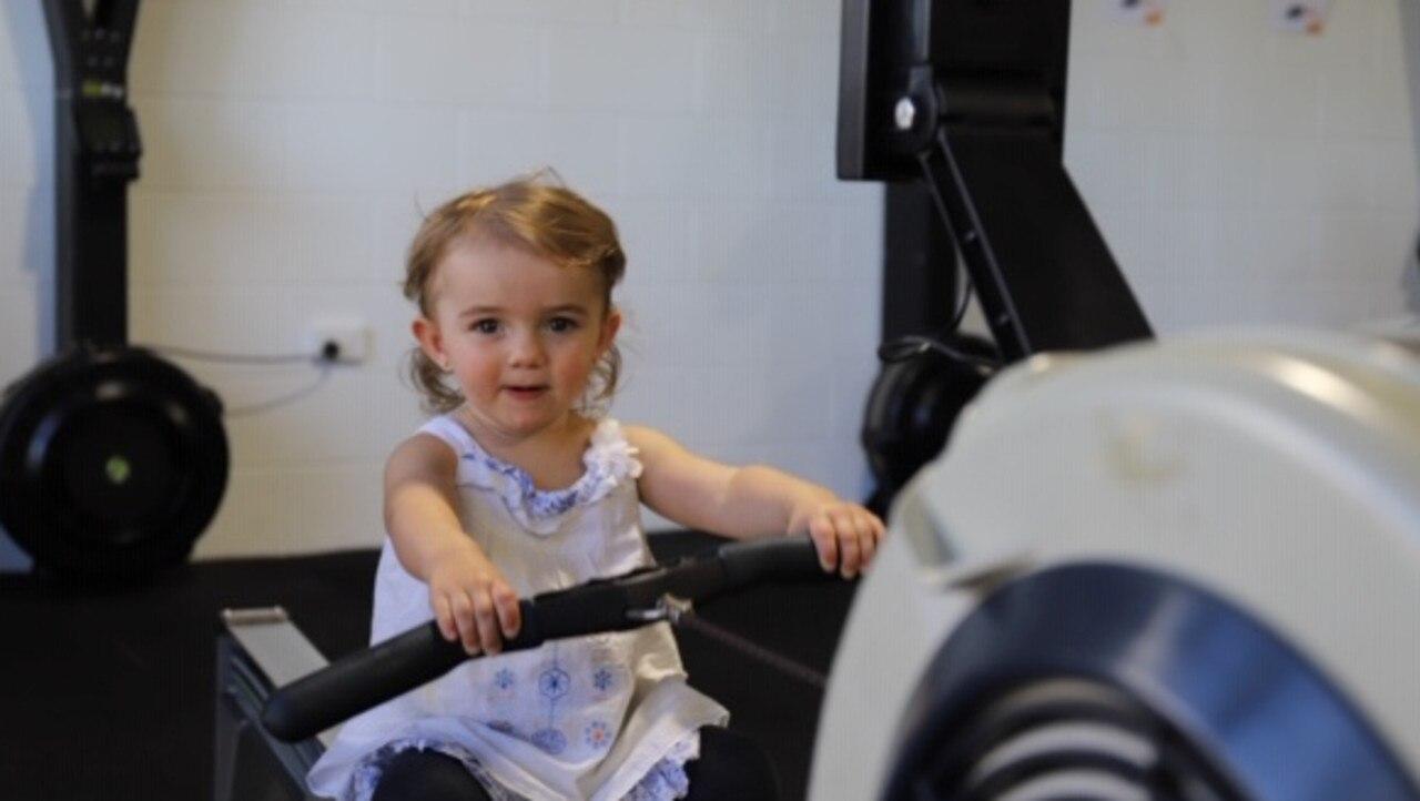 Little challenger Tilde Goodale gave it her best. Picture: Ashley Pillhofer