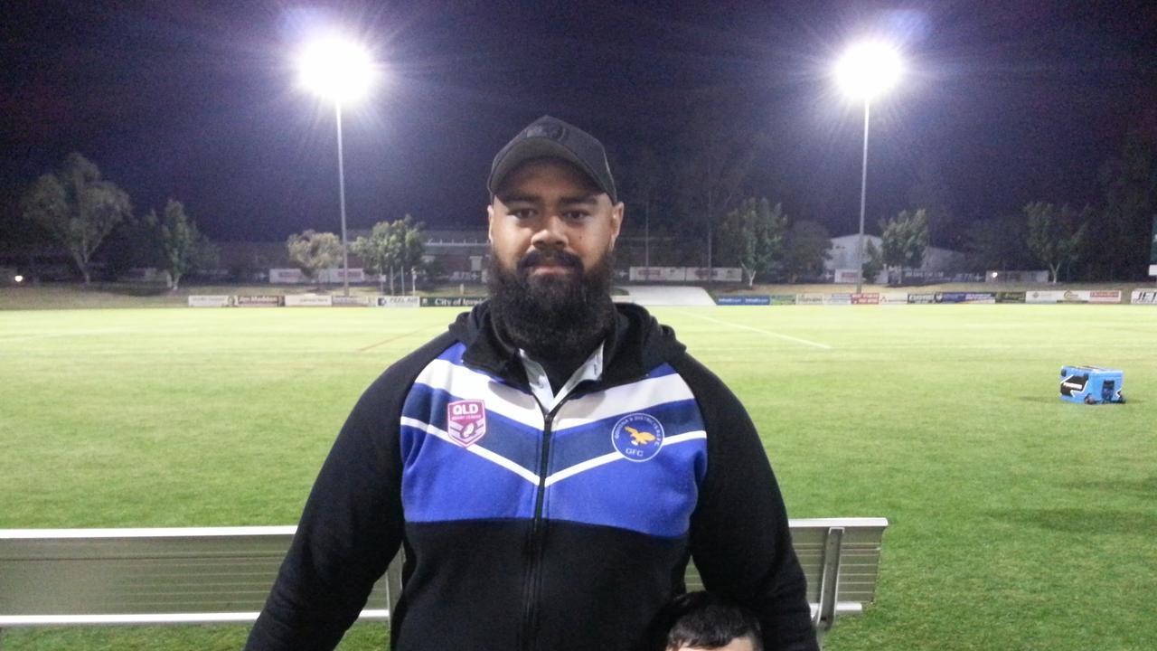 Goodna A-Grade rugby league coach Alistair Taua'aletoa. Picture: David Lems