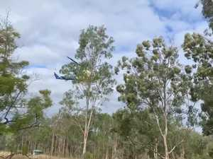 Rescue helicopter at Boolboonda crash