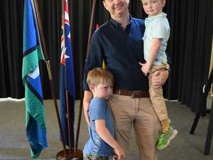 CITIZENSHIP: New Australian citizens Frans Mare with