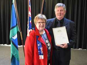 CITIZENSHIP: New Australian citizen Terry Love, with