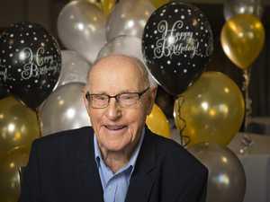 Ronald Moffatt celebrates his 100th birthday at a