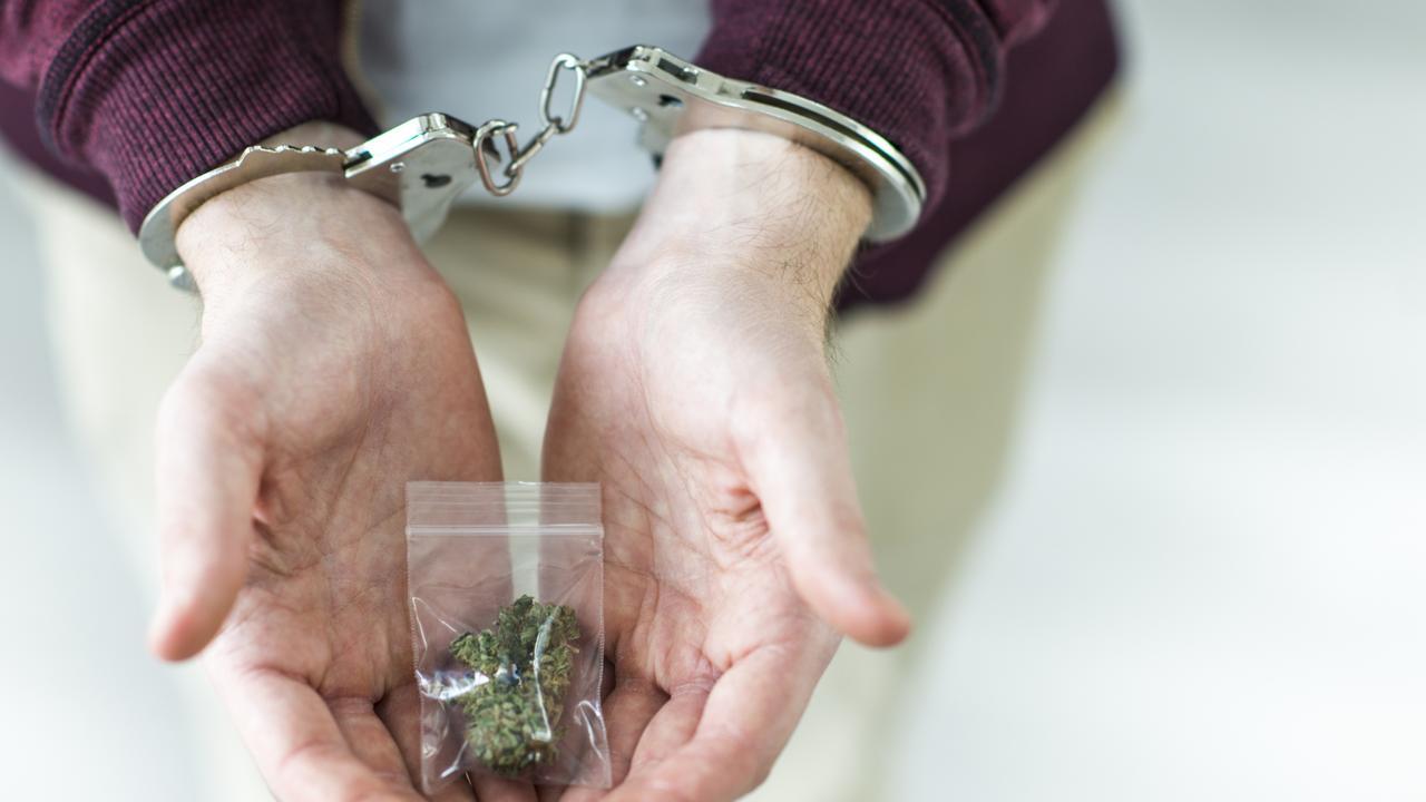 Arrested for marijuana, cannabis, drug possession.