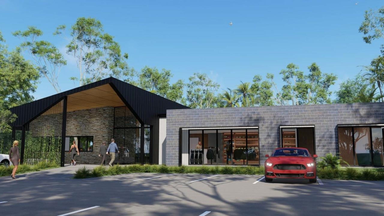 The proposed new entry for the retirement resort.