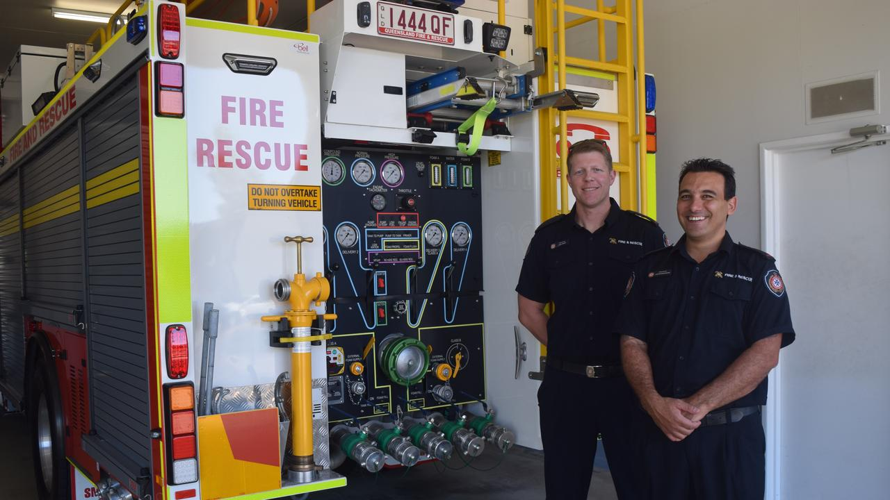 Auxiliary firefighters Luke Addis and Justin Buhagiar encourage other Whitsunday residents to sign up.