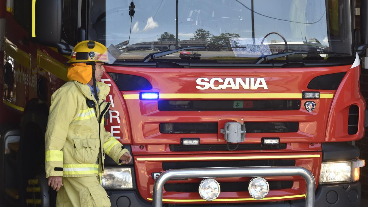 Queensland Fire and Emergency Services attended the scene. Photo: Bev Lacey