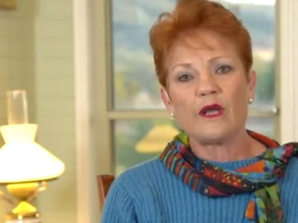 Pauline Hanson gives the nation her opinion on the Today Show shortly before being axed.