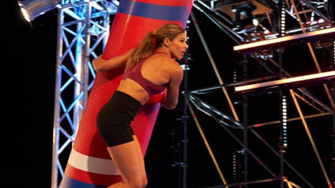Coast-based mum of three Monika Siemonek in action on Australian Ninja Warrior.