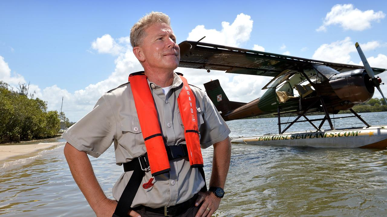 Paradise Seaplanes owner and chief pilot Shawn Kelly hopes to expand his tourism operatio. Photo: Warren Lynam / Sunshine Coast Daily