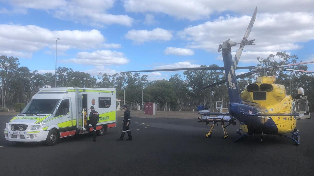 RACQ CQ Rescue responded to five missions over the weekend including to Middlemount on Sunday to airlift a teenager injured in bull-riding accident.
