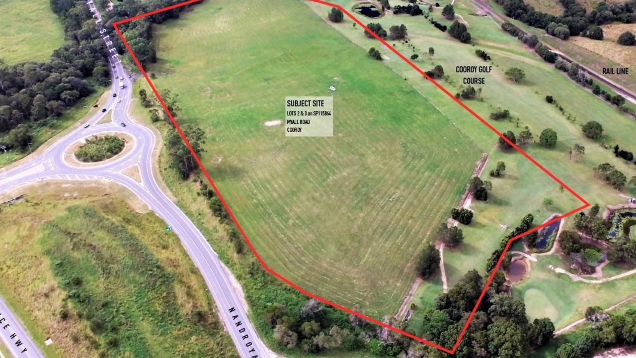 The GemLife development site which is seeking Noosa Council approval.