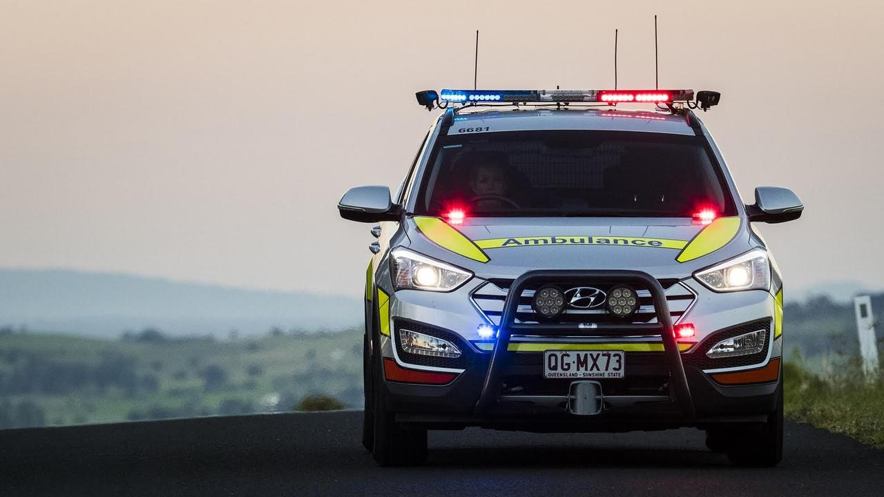 A Queensland Ambulance Service spokesman said paramedics were called to the rural private property at 10.43am on Sunday.