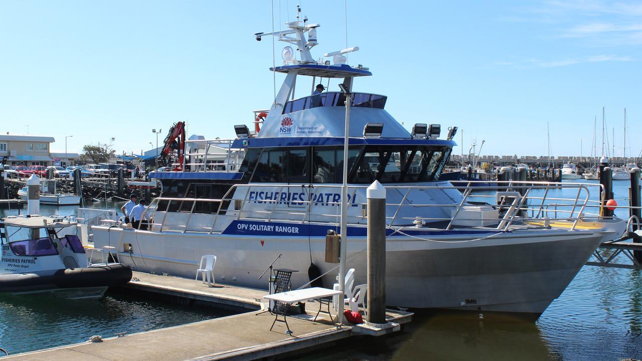 The NSW Fisheries boat, Solitary Ranger at Coffs Harbour Marina. Photo: Tim Jarrett